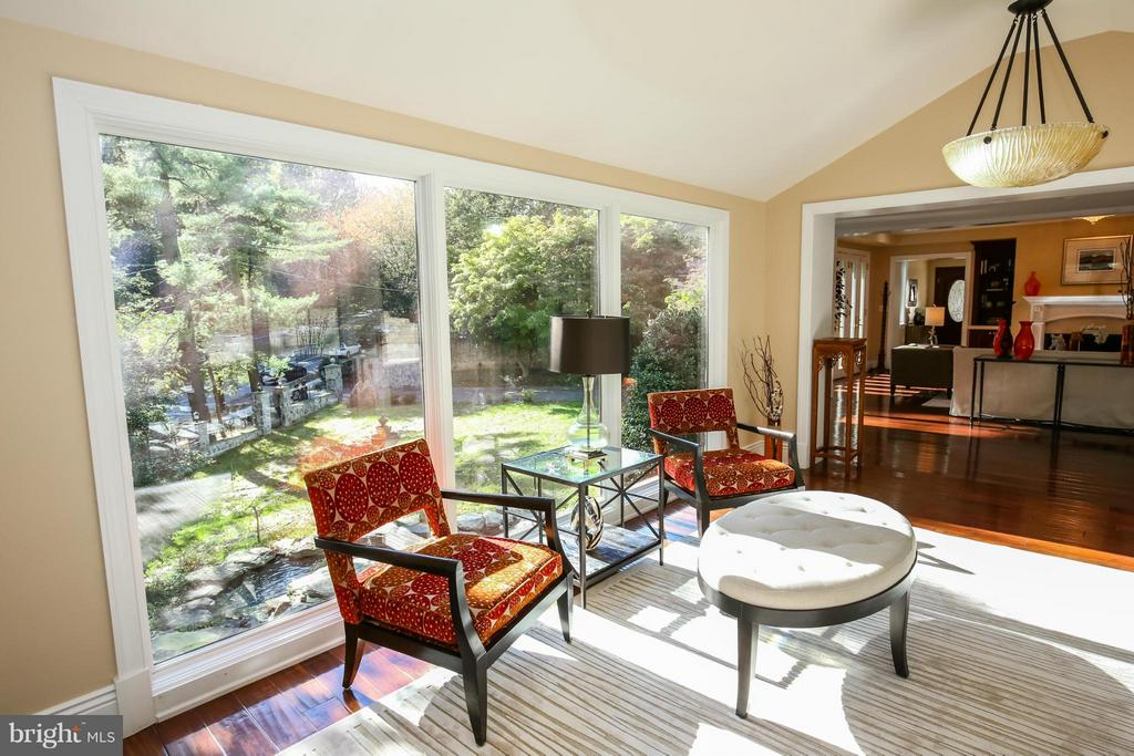 Sun Room with View to Flowing Water - 2829 TILDEN ST NW, WASHINGTON