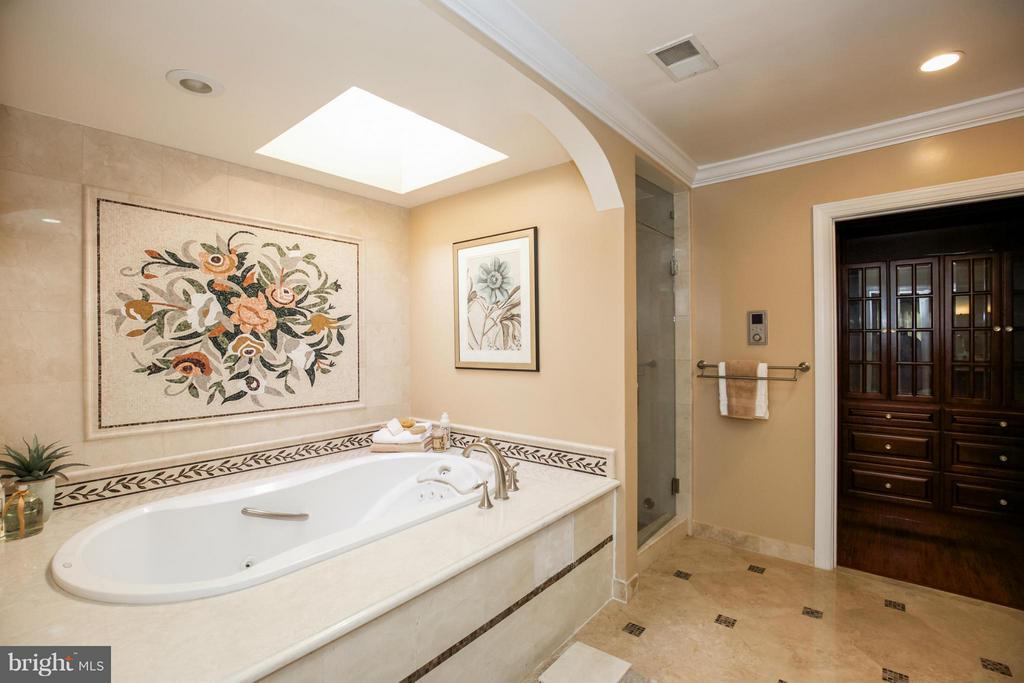 Deluxe Master Bath with Steam Shower - 2829 TILDEN ST NW, WASHINGTON