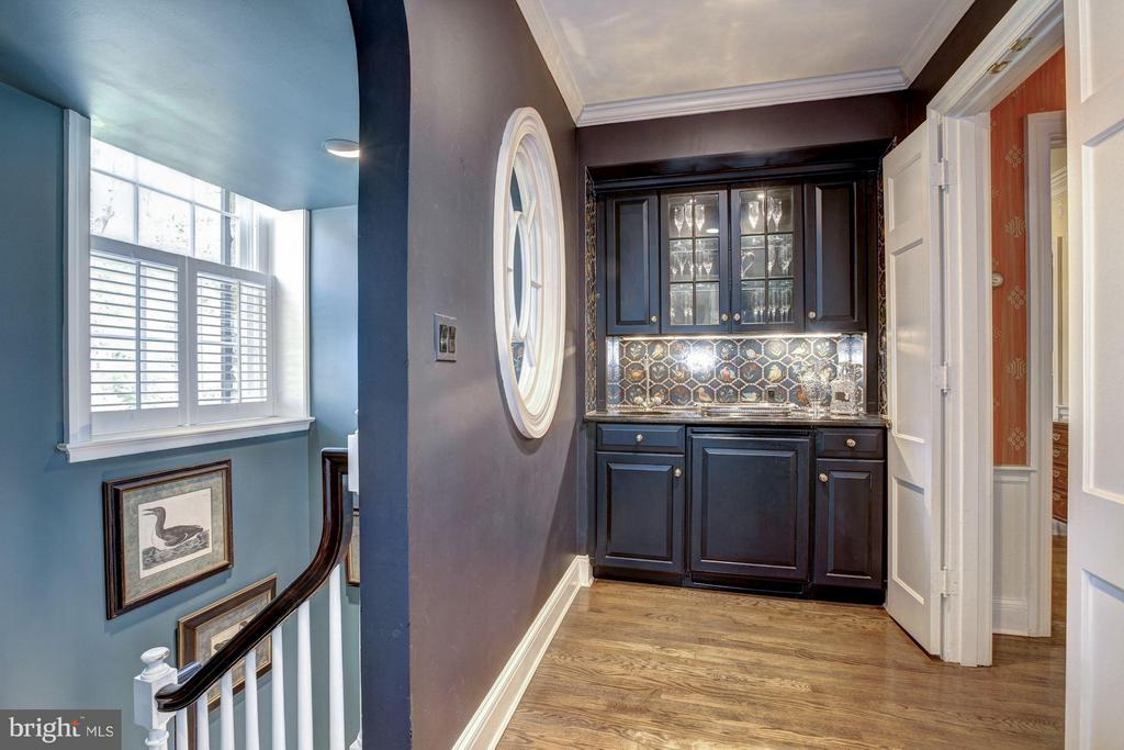 Entrance to kitchen wing and stair to Lower Level - 4880 GLENBROOK RD NW, WASHINGTON