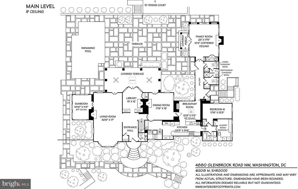 Floor Plan Main Level - 4880 GLENBROOK RD NW, WASHINGTON