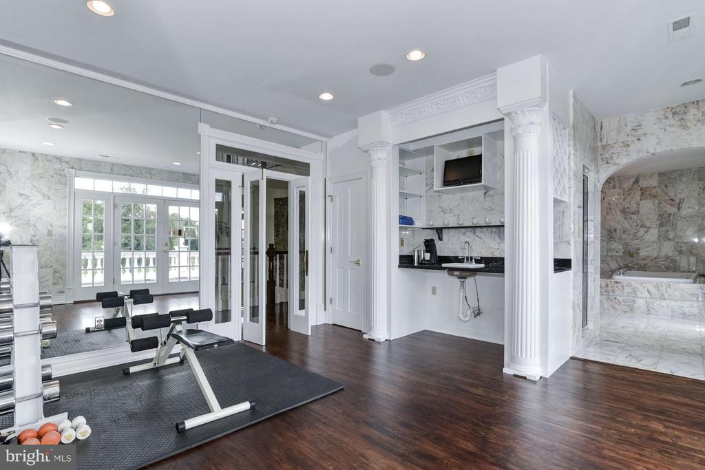 Gym with full-wet bar, wired for media - 4 POINTERS RIDGE CT, FREDERICKSBURG