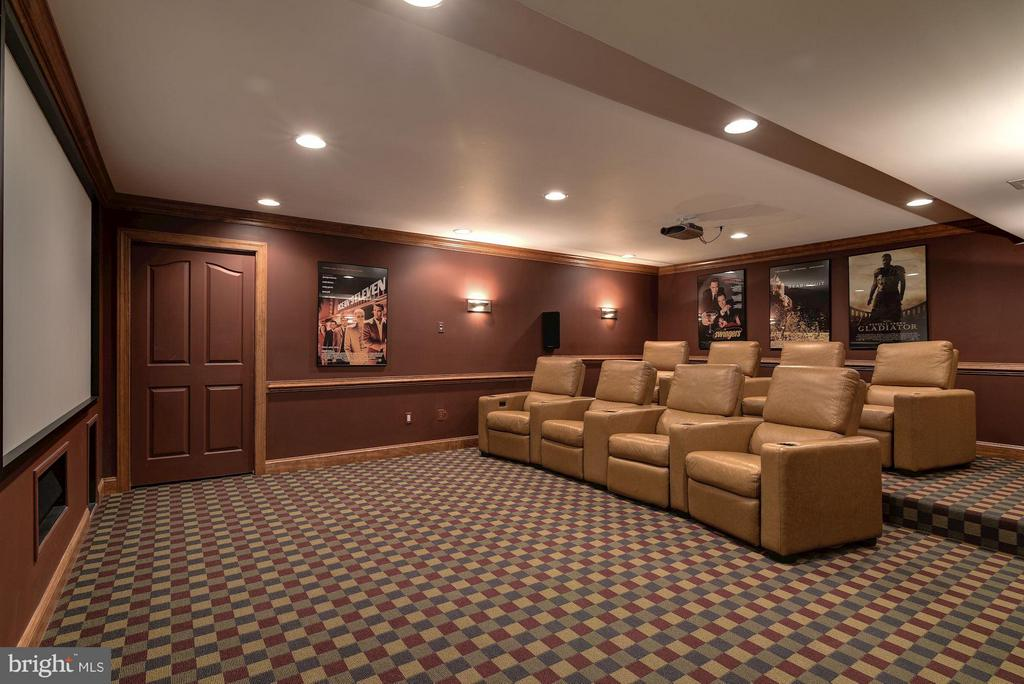 Home Theater - 8633 FENWAY RD, BETHESDA