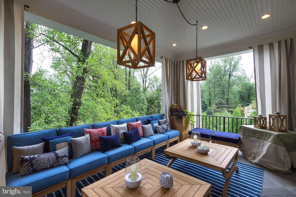 Covered Terrace - 2509 FOXHALL RD NW, WASHINGTON