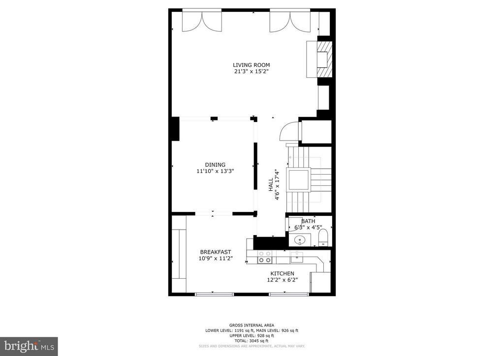 Upper Level Floor Plan - 1807 24TH ST S, ARLINGTON