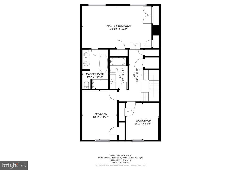 Main Level Floor Plan - 1807 24TH ST S, ARLINGTON