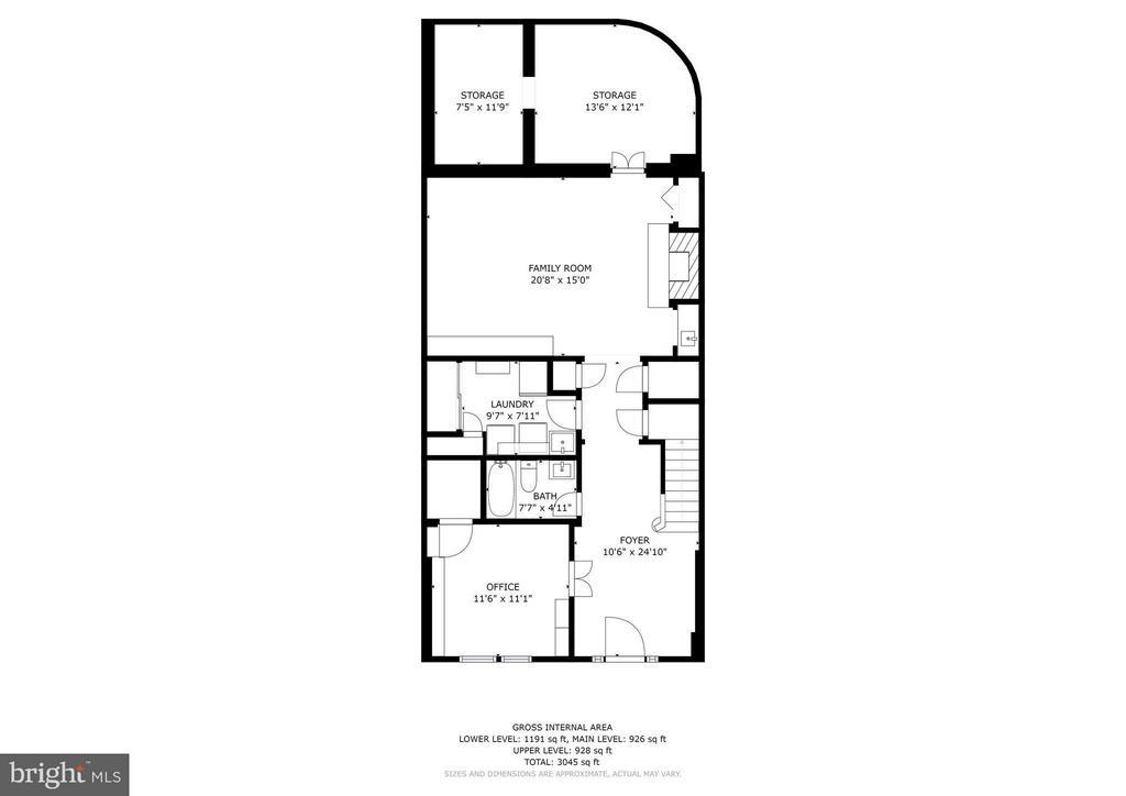 Lower Level Floor Plan - 1807 24TH ST S, ARLINGTON