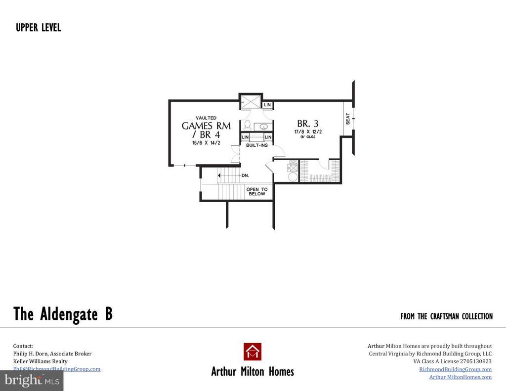 Upper level floor plan. - BRENTHEM FARM RD, FREDERICKSBURG