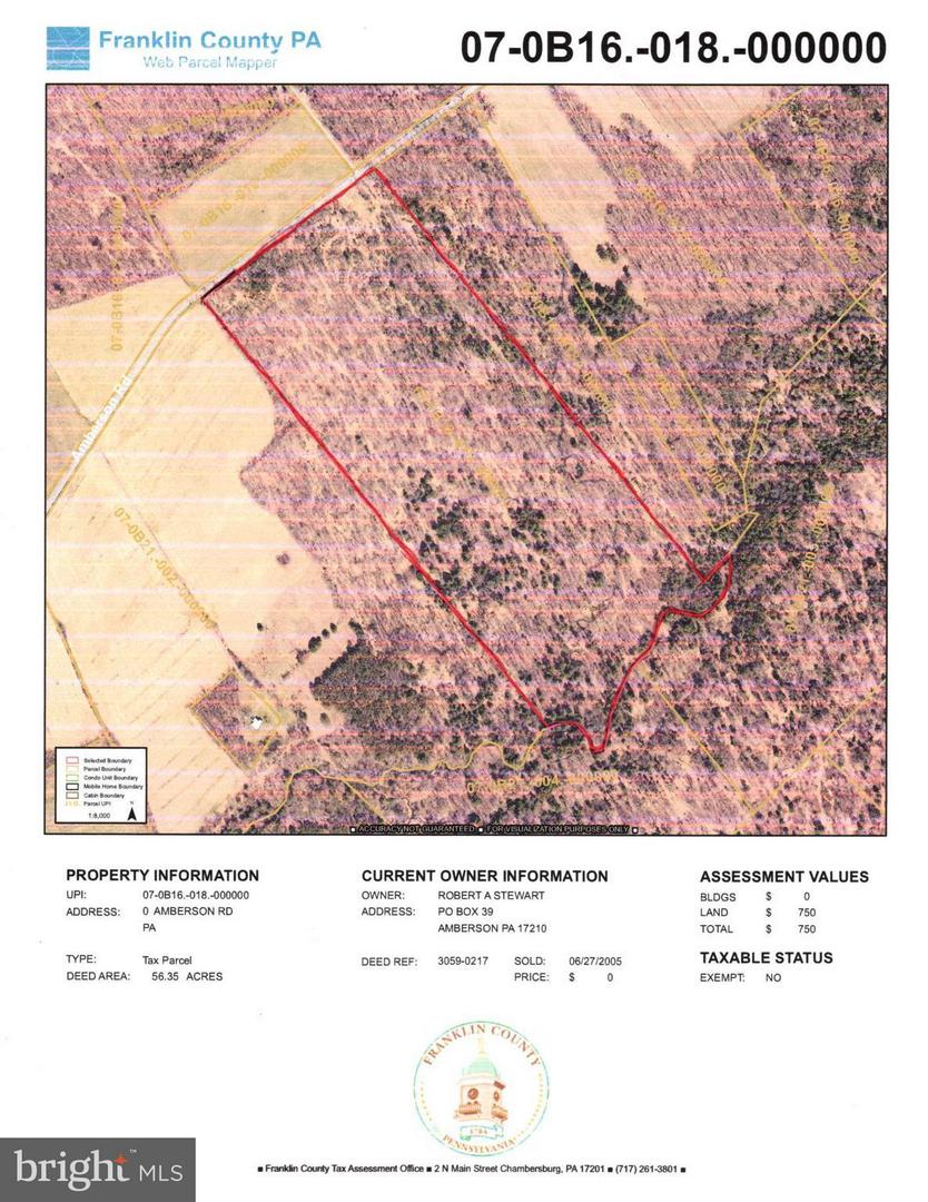 Land for Sale at 56ac Amberson Amberson, Pennsylvania 17210 United States