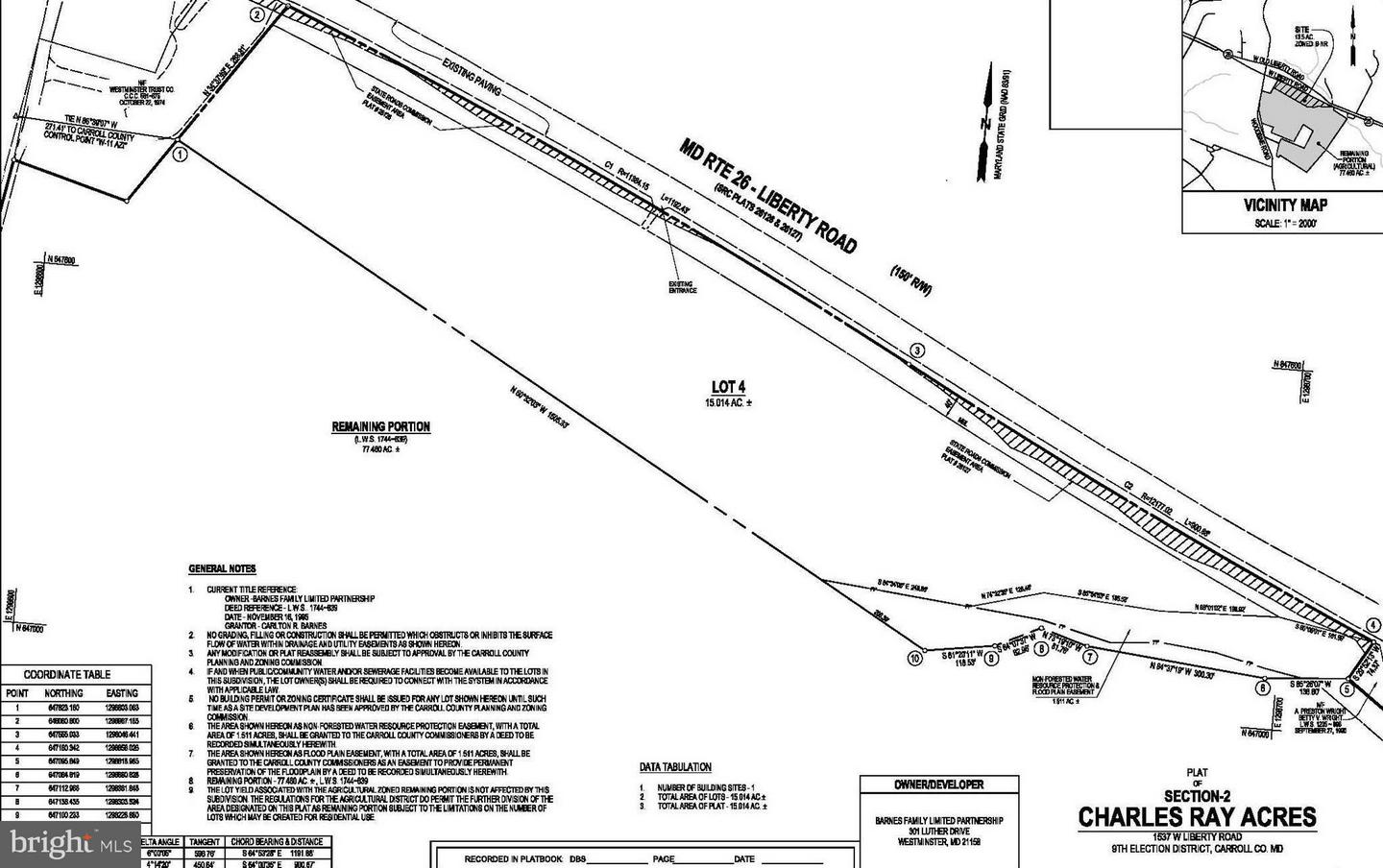 Land for Sale at 1537w Liberty Rd Sykesville, Maryland 21784 United States
