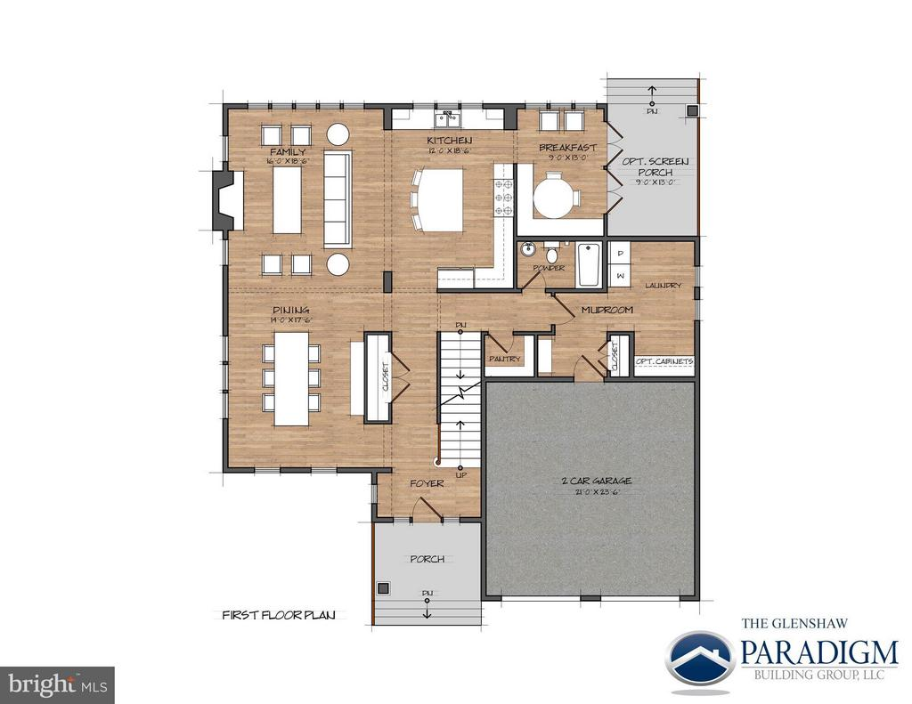 First Floor- Example of Layout Expanded to 4000sf - 17342 CANNONADE DR, LEESBURG
