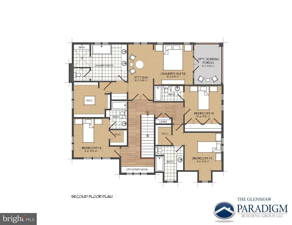 Second Floor- Example of Layout Expanded to 4000sf - 17342 CANNONADE DR, LEESBURG