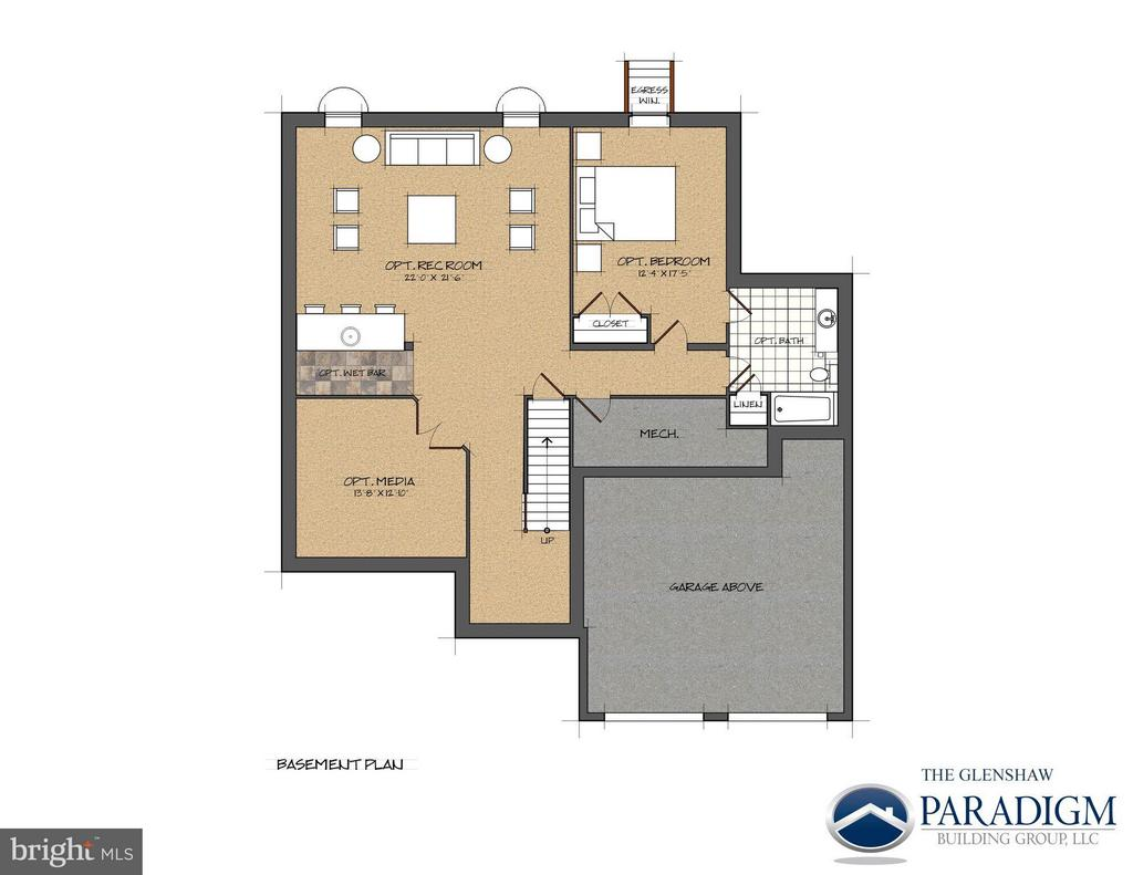 Unfinished Basement- Example of Layout - 17342 CANNONADE DR, LEESBURG