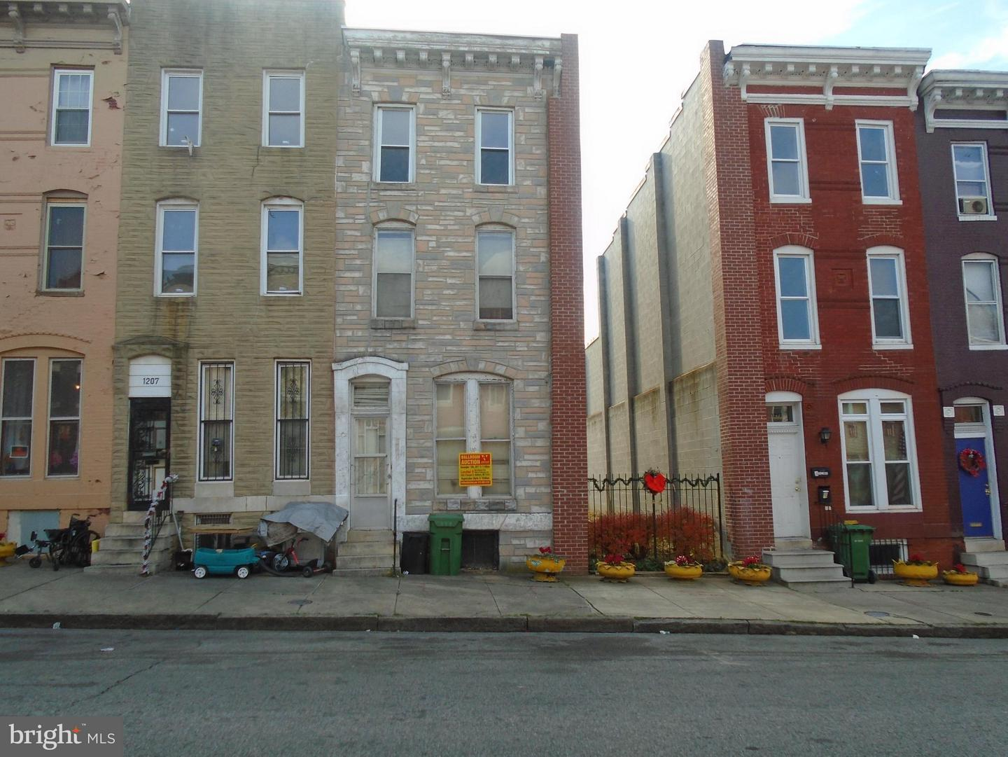 Photo of home for sale at 1209 Mosher Street, Baltimore MD