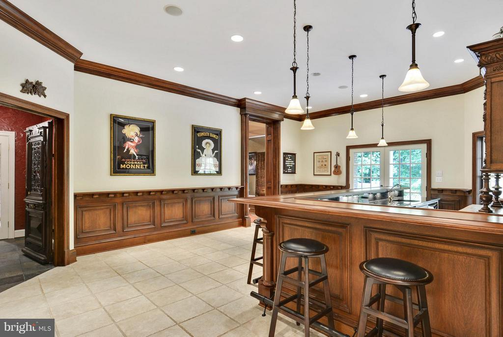 Lower Level Full Bar and Wine Cellar - 11258 SOMMERSWORTH CT, STERLING