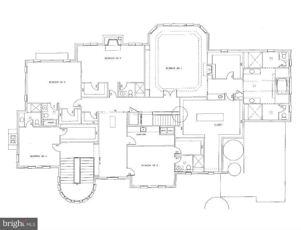 Upper Level Floor Plan - 8627 DIXIE PL, MCLEAN