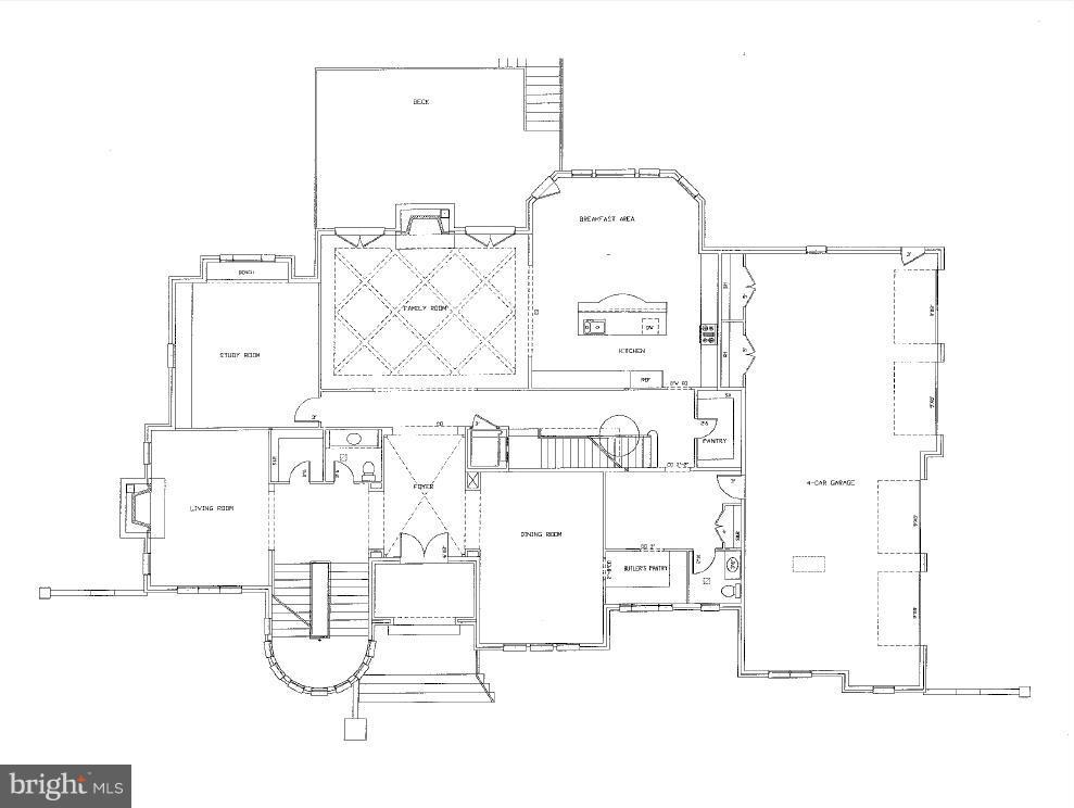 Main Level Floor Plan - 8627 DIXIE PL, MCLEAN