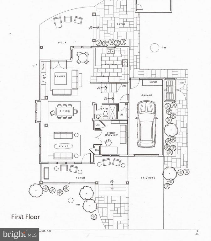 1 st Level Proposed Floor Plan - 813 QUINCY ST S, ARLINGTON