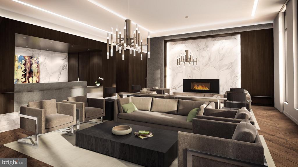 24 hour concierge, beautifully appointed lobby - 1650 SILVER HILL DR #1704, MCLEAN