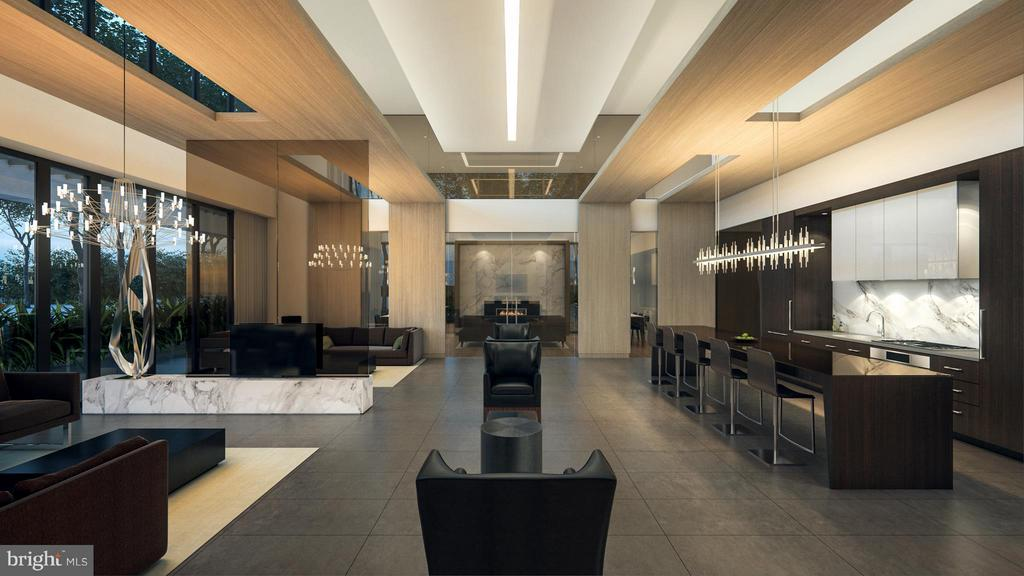 Club room with chefs kitchen leading onto skypark! - 1650 SILVER HILL DR #1704, MCLEAN