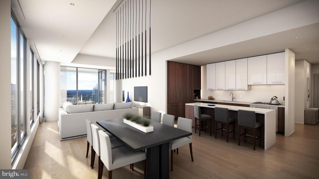 Large open floor plans, high ceilings,, balconies - 1650 SILVER HILL DR #1704, MCLEAN