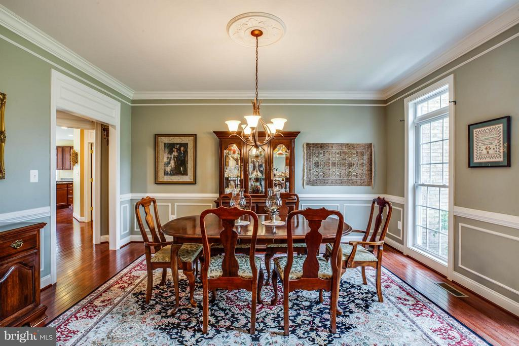 Formal Dining Room W/ Chair Railing, Crown Molding - 12910 MACNEIL CT, FREDERICKSBURG