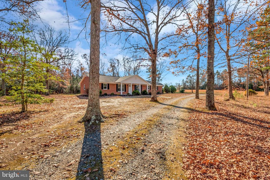 Private driveway & large acreage - 12262 PAIGE RD, WOODFORD