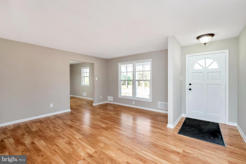 New Flooring in Front Living Room - 12262 PAIGE RD, WOODFORD