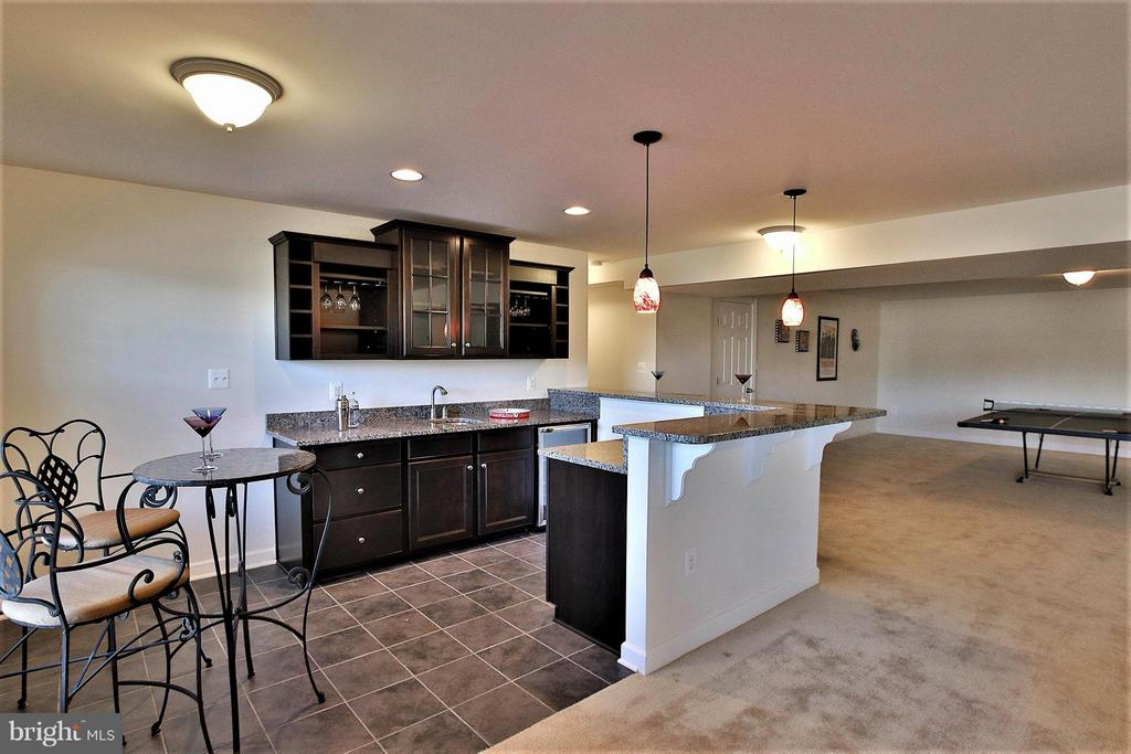 Eye catching wet bar with wine fridge - 36766 WATERFRONT LN, PURCELLVILLE