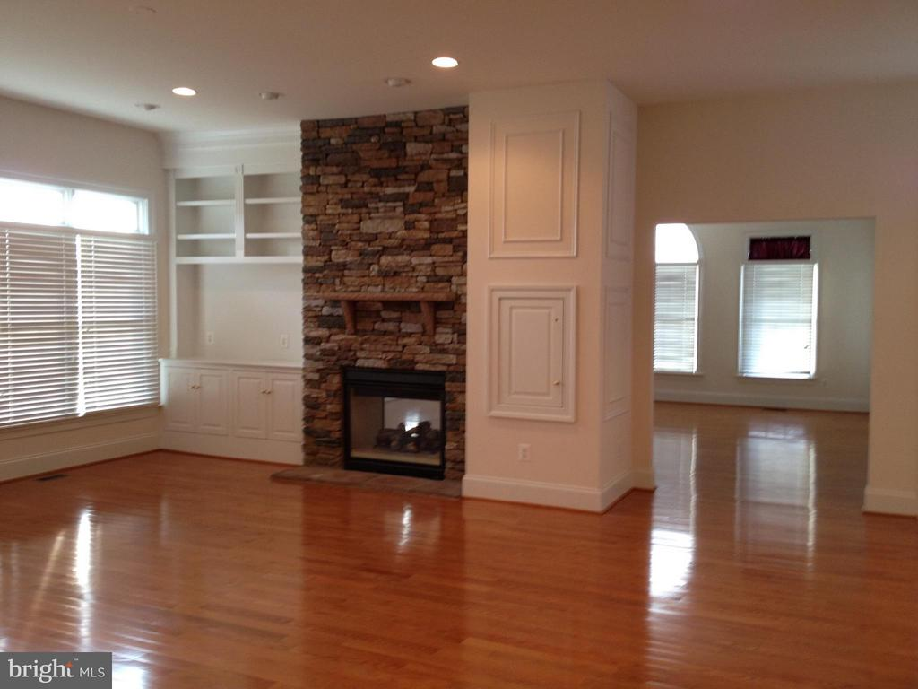 Family Room w/Gas Fireplace & Built-in Media Cente - 43513 STARGELL TER, LEESBURG