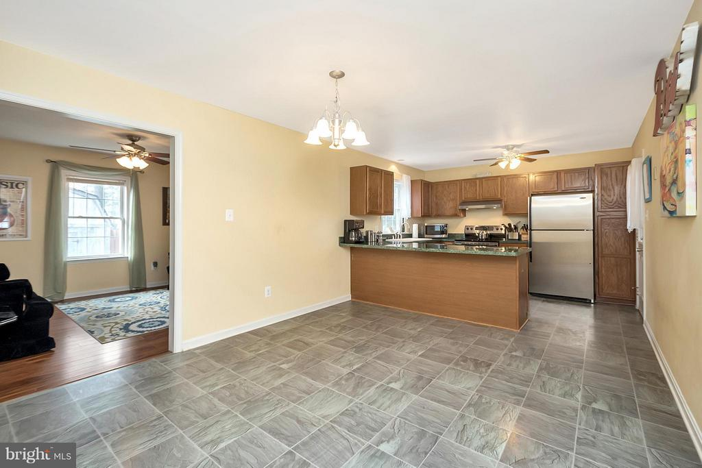 Large eat in kitchen space - 2702 STRATFORD ST, COLONIAL BEACH