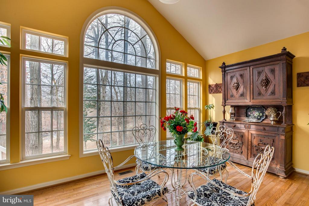 You can see the Pohick Creek from Kitchen/Sunroom - 9160 STONEGARDEN DR, LORTON
