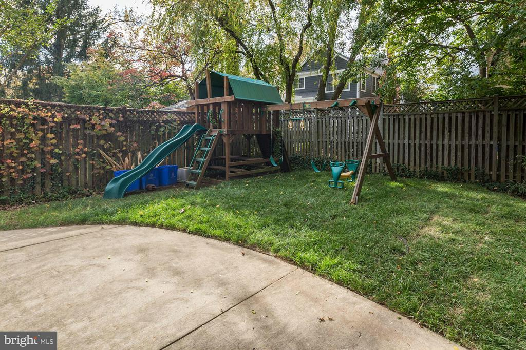 Rear Yard - 7818 CUSTER RD, BETHESDA