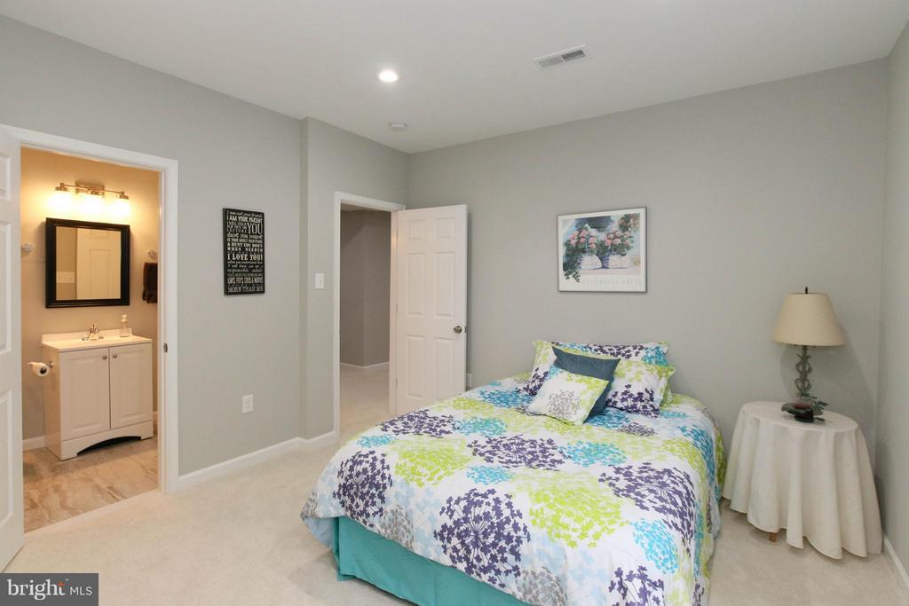 6th bedroom on lower level with full bath - 22360 AGING OAK DR, LEESBURG