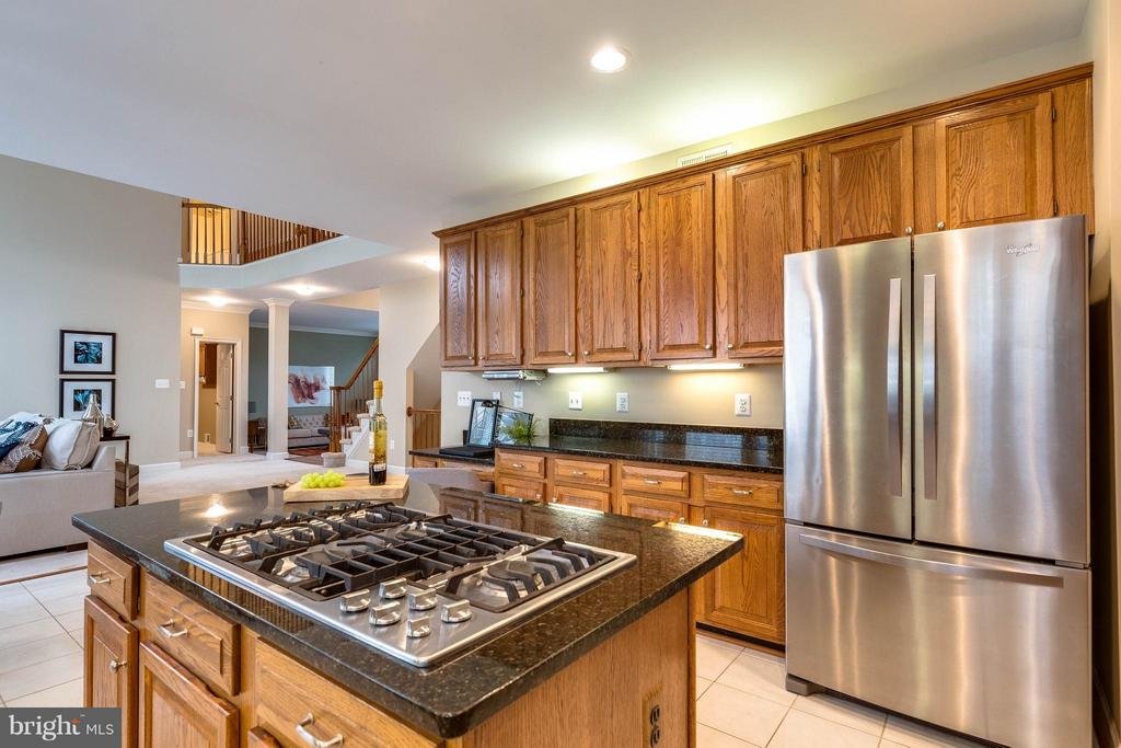 Open concept with stainless appliances - 7732 WHITE WILLOW CT, SPRINGFIELD