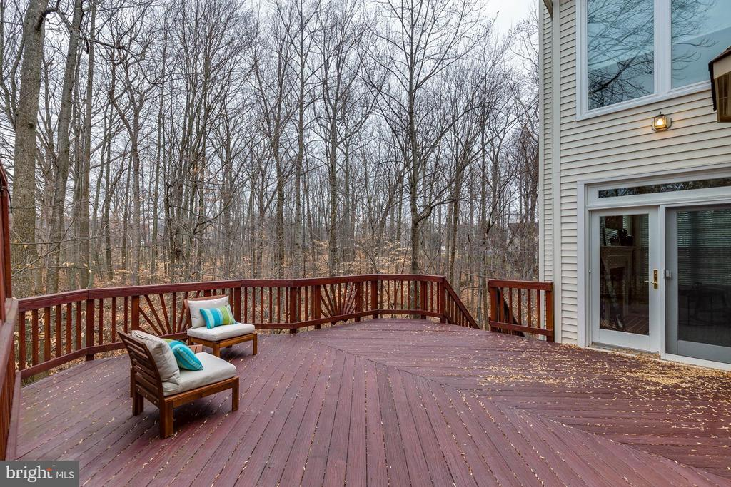 Main deck from the Family room - 7732 WHITE WILLOW CT, SPRINGFIELD