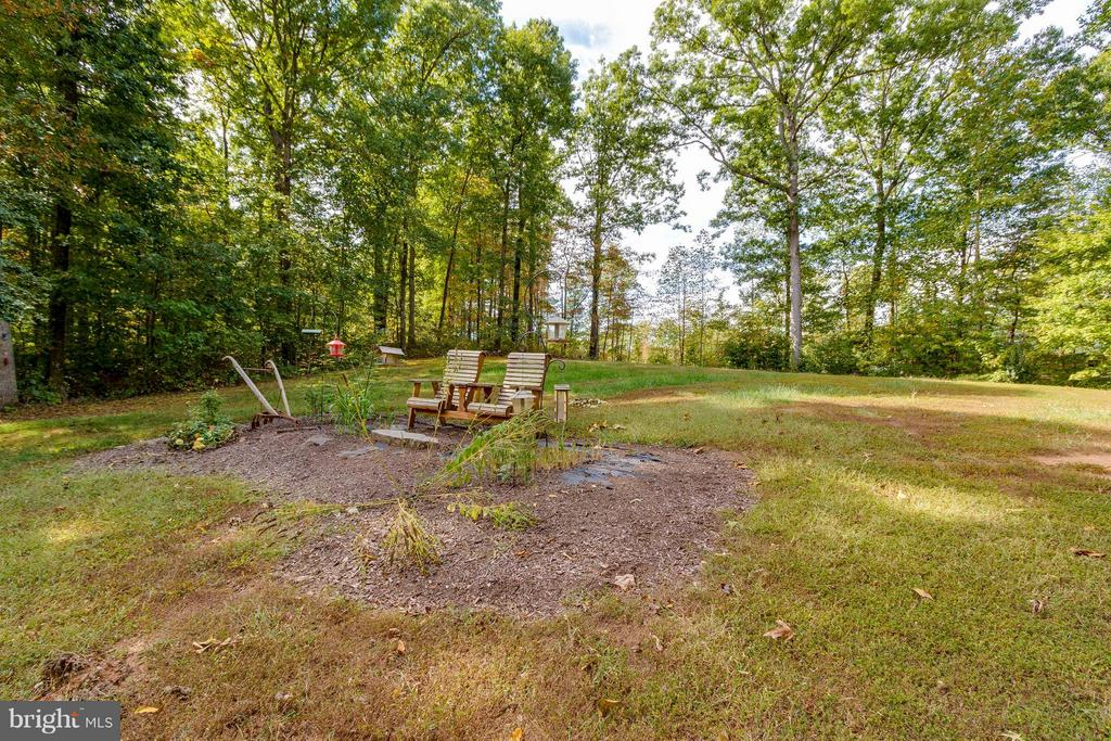 Private backyard that backs to trees - 137 SEQUESTER DR, STAFFORD