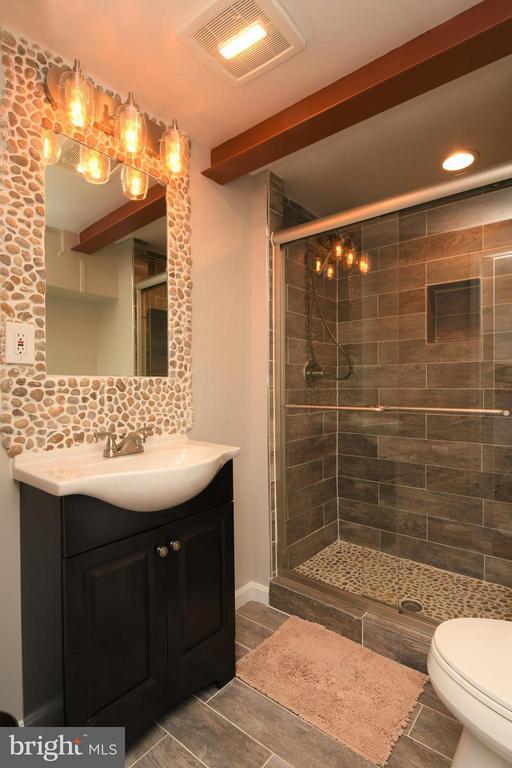 Brand new added bathroom on Lower Level - 10516 ARROWOOD ST, FAIRFAX