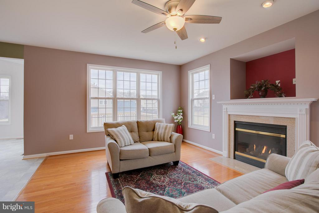 Family Room right off kitchen with gas fireplace - 31 LANDMARK DR, STAFFORD