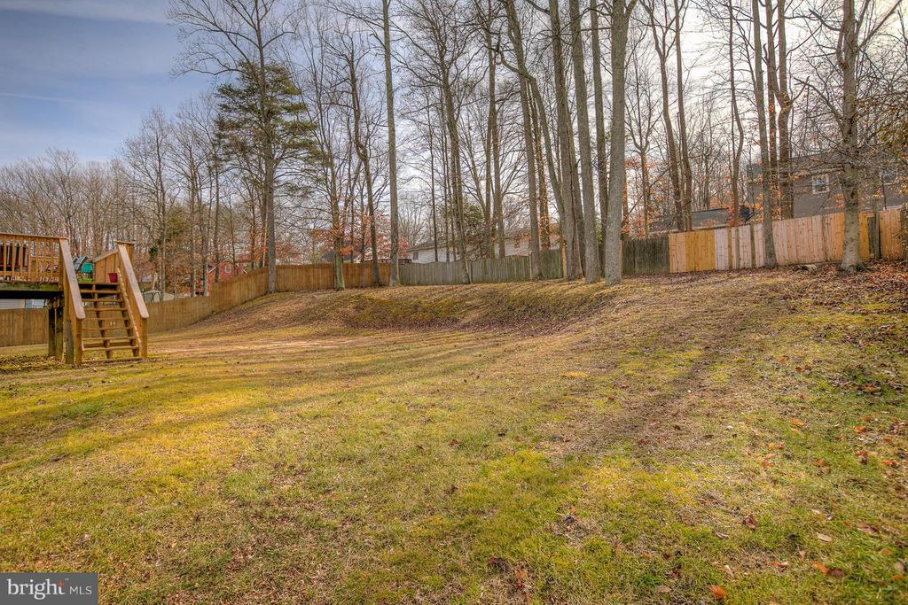 Large backyard is perfect for play - 112 COAL LANDING RD, STAFFORD
