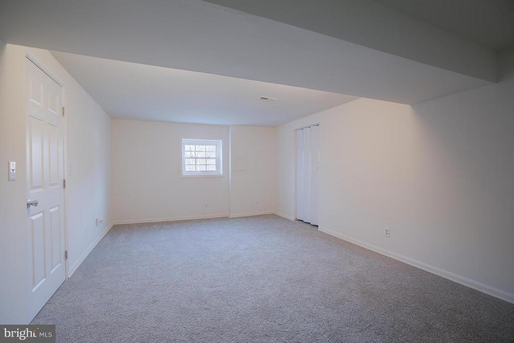 Large rec room with new carpeting. - 112 COAL LANDING RD, STAFFORD