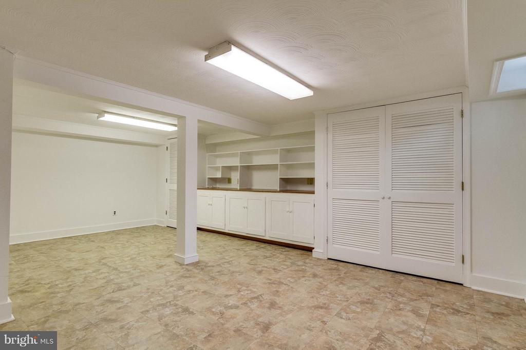Recreation room with built in shelving/storage - 350 ORCHARD DR, PURCELLVILLE