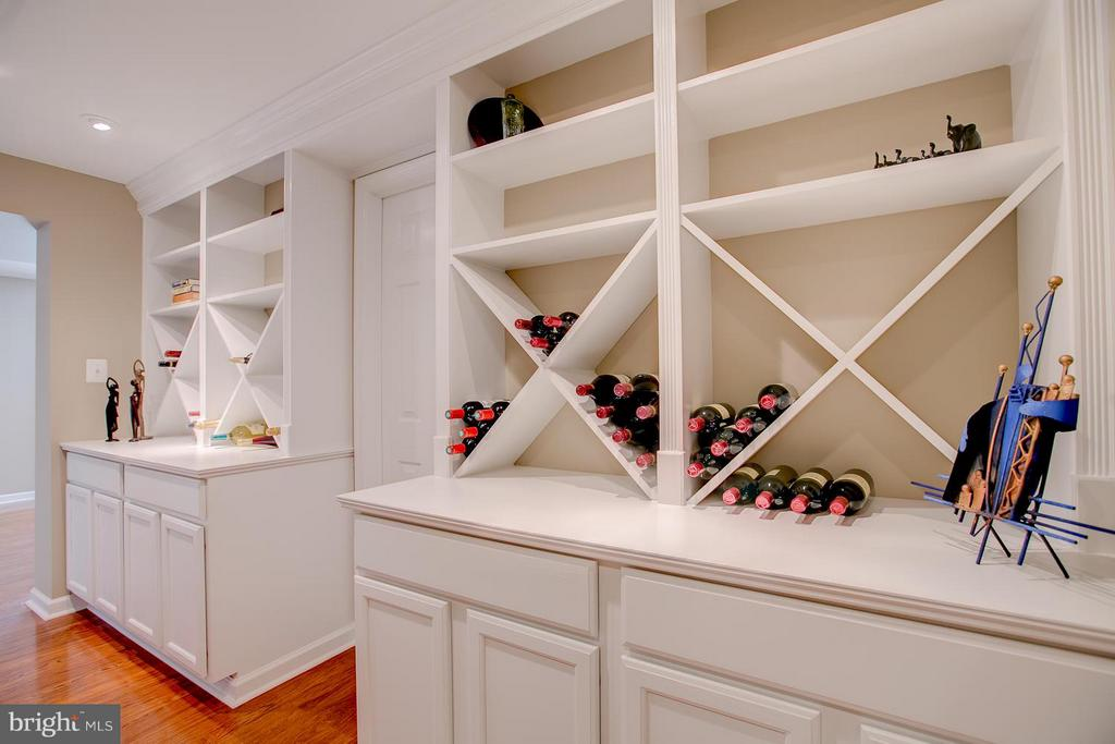 Beautiful Custom Built-Ins With Wine Storage - 7 NEVILLE CT, STAFFORD