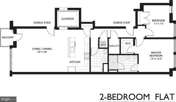Floor Plan - 1610 QUEEN ST #215, ARLINGTON