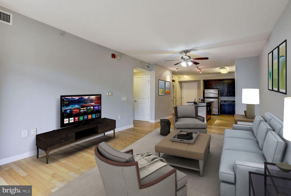 Living Room (3 of 3) - 475 K ST NW #505, WASHINGTON
