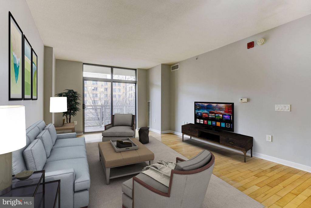 Living Room (1 of 3) - 475 K ST NW #505, WASHINGTON