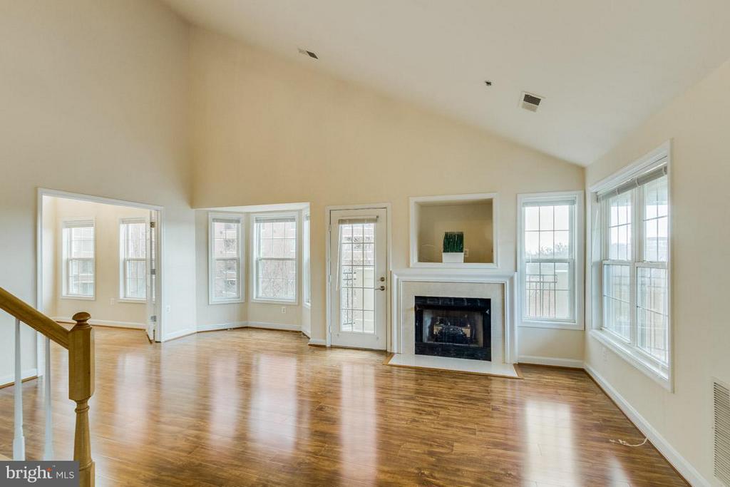 Living Room w/ gas fireplace - 1321 ADAMS CT N #402, ARLINGTON