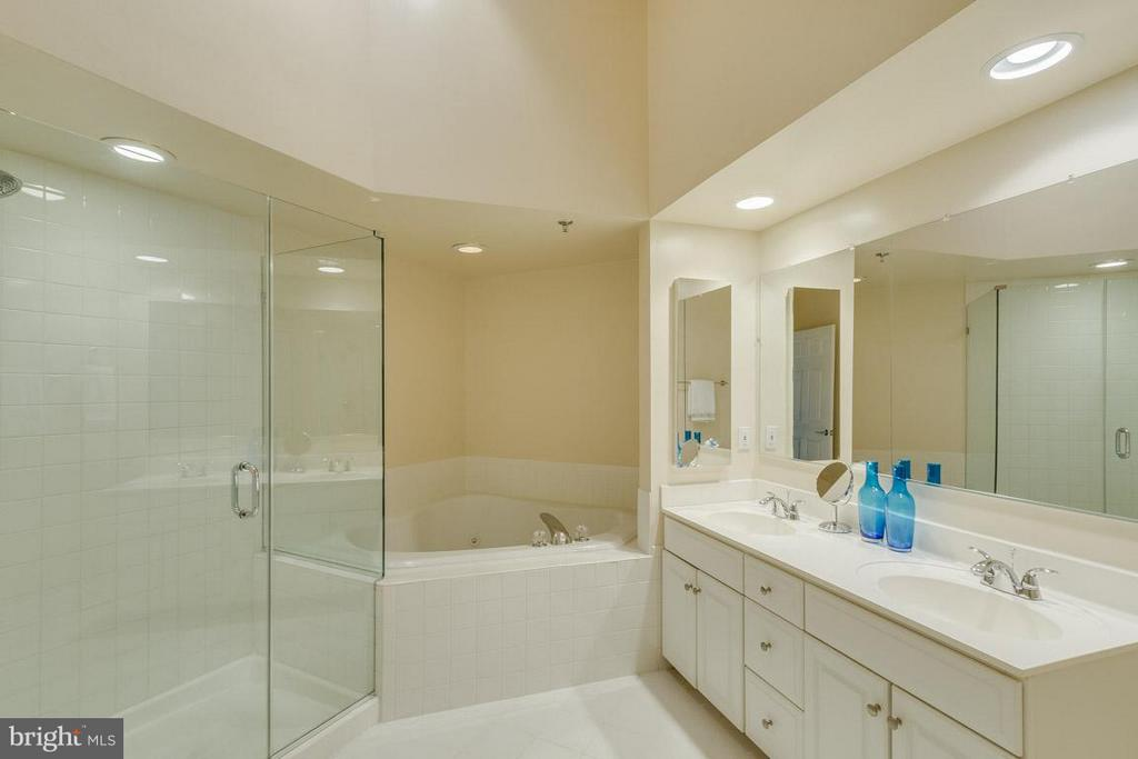 Master bath w/ Separate shower and soaking tub - 1321 ADAMS CT N #402, ARLINGTON