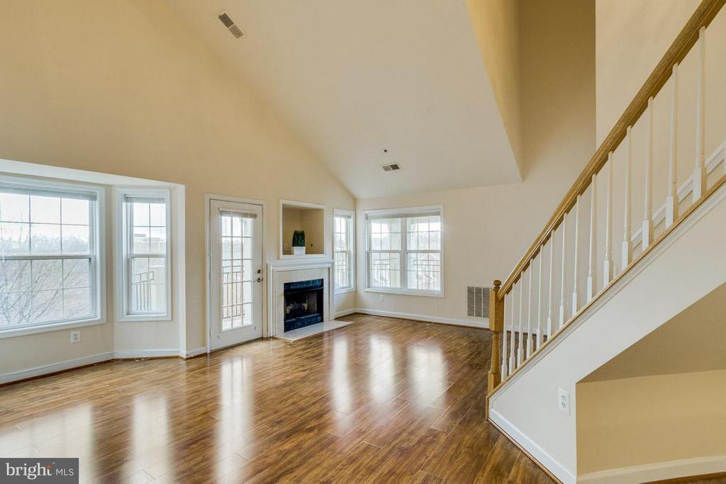 Living Room - look at those ceilings ! - 1321 ADAMS CT N #402, ARLINGTON