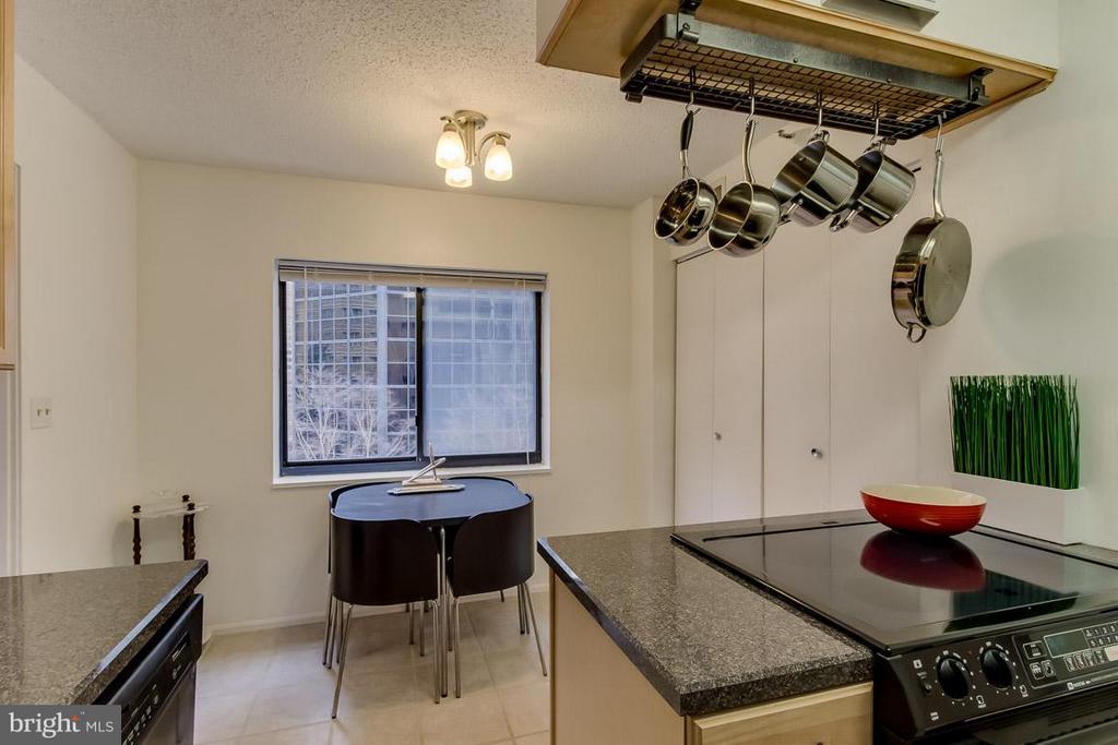 Kitchen w/ eat-in kitchen nook by window - 1600 OAK ST N #406, ARLINGTON