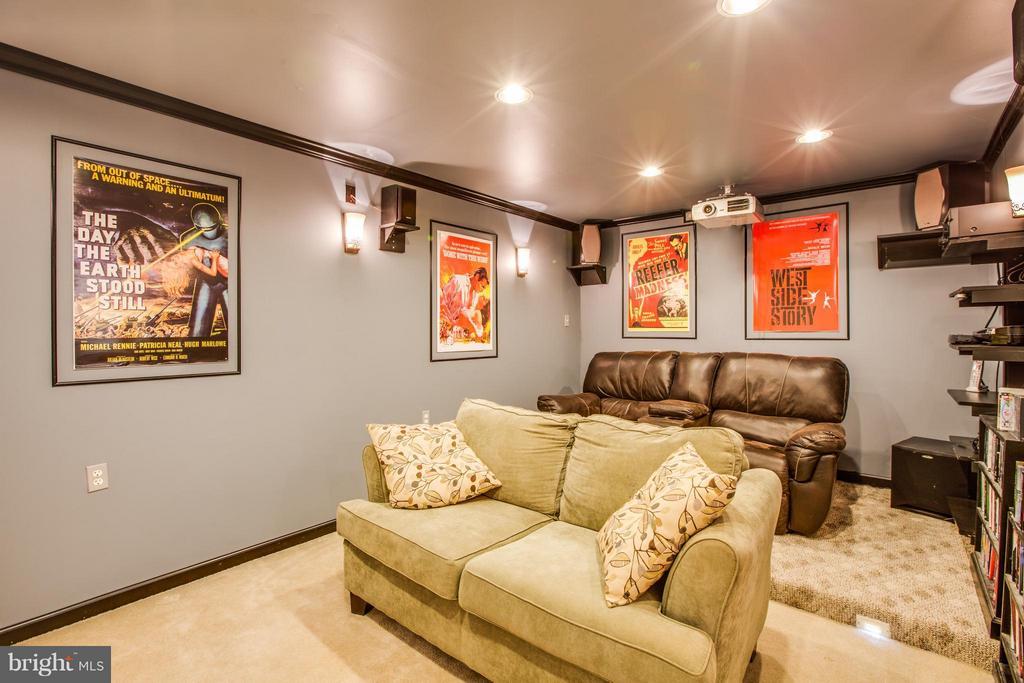 Media room w/ many lighting options includ. floor - 6 GARNER DR, FREDERICKSBURG